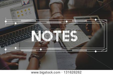 Note Memo Message Reminder Letter Concept