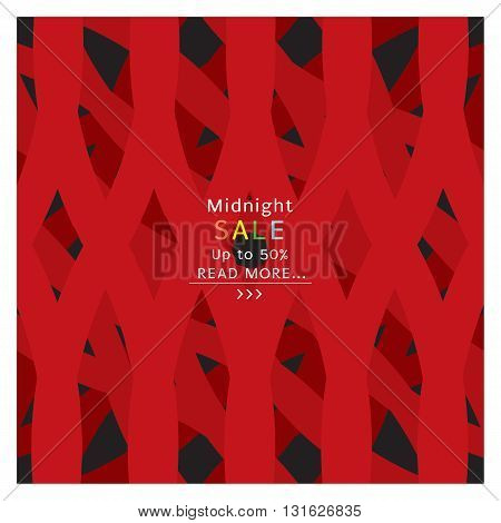 Midnight Sale Banner Vector Illustration. EPS 10