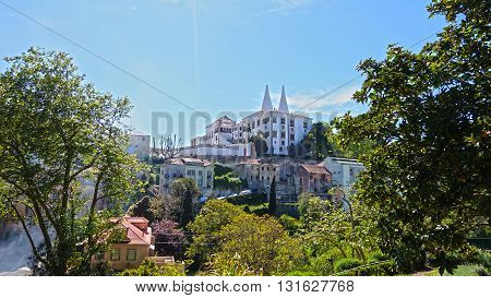 Sintra National Palace. View from inside the Natural Museum.