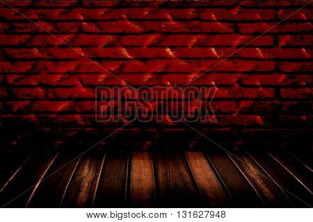 The metal diamond plate wall and floor
