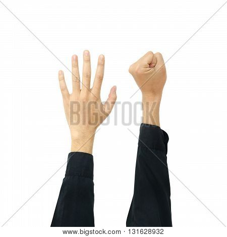 Hands isolated on a white color background
