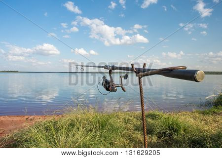 Fishing Rod By The Lake