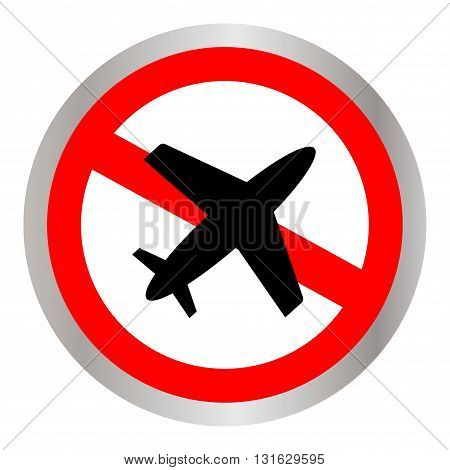 no flying on white background,prohibit sign vector