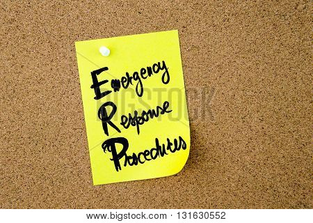 Business Acronym Erp Emergency Response Procedures