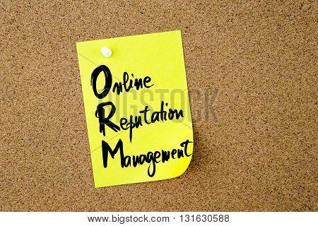 Business Acronym Orm Online Reputation Management