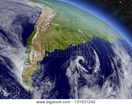 Argentina And Chile From Space