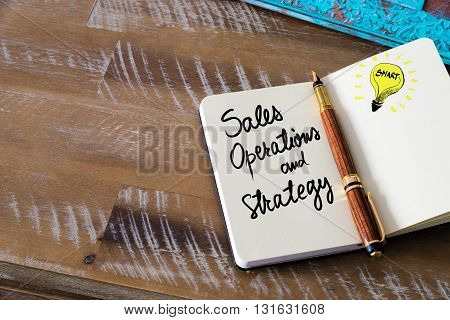 Handwritten Text Sales, Operations And Strategy