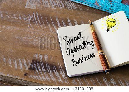 Handwritten Text Smart Operating Business