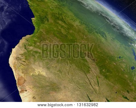 Angola From Space