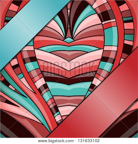 Abstract colorful background with ribbons. Illustration 10 version