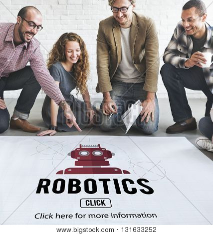 Robotics Machinery Instrument Technology Concept