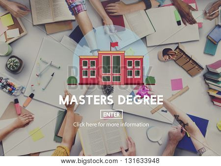Academic Education Master Degree Study Concept