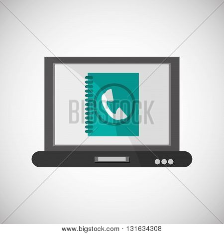 Communication concept with icon design, vector illustration 10 eps graphic.