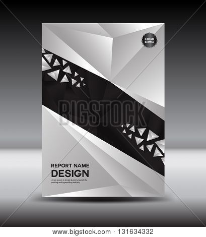 Black and White Cover design and Cover Annual report vector illustration booklet poster aleaflet