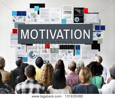 Motivation Aspiration Enthusiasm Incentive Inspire Concept