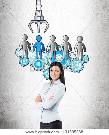 Hr Concept With Confident Businesswoman
