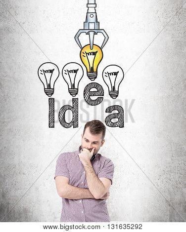 Idea And Choice Concept