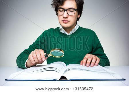 Reading Book With Magnifier