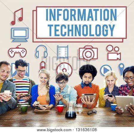 Infromation Technology Electronics Gadget Digital Concept