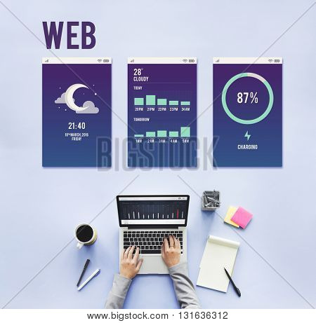 Web Internet Mobile Interface Layout Concept
