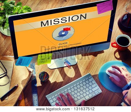 Mission Aim Goals Motivation Strategy Target Concept