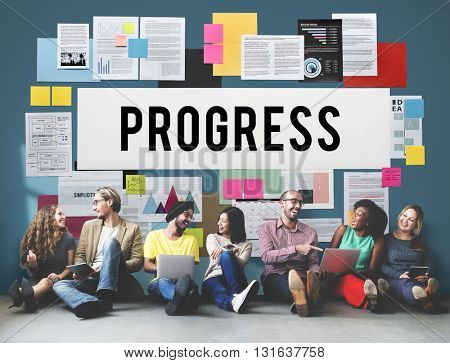 Progress Better Development Growth Innovation Concept
