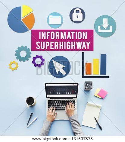 Information Super Highway Communication Network Concept