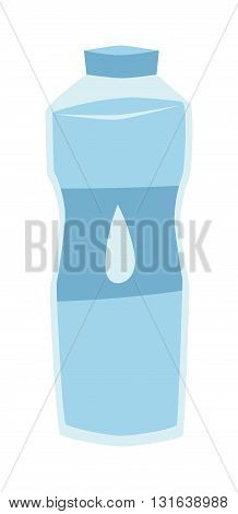 Sports water bottle vector illustration. Sports water bottle drink isolated and sports water bottle. Sports water fitness equipment health container. Bicycle plastic sport bottle for water.