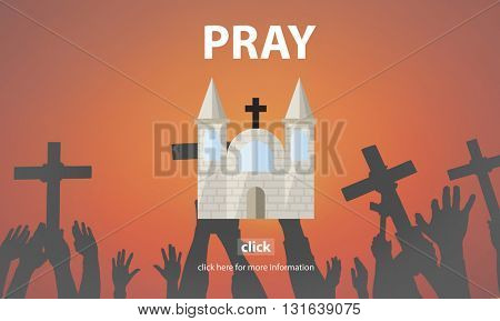 Pray Prayer Religion Spiritual Confession Faith Concept
