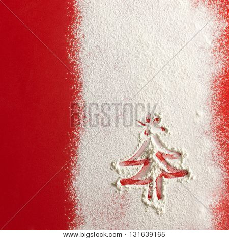 Snow background texture. Christmas card. Closeup