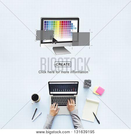 Palette Digital Idea Computer Graphics Concept