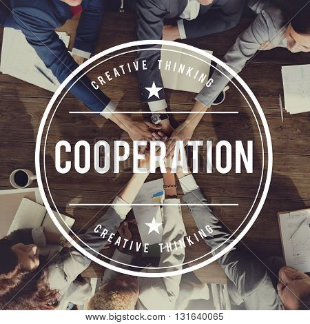 Collaboration Cooperation Coworking Teamwork Group Concept