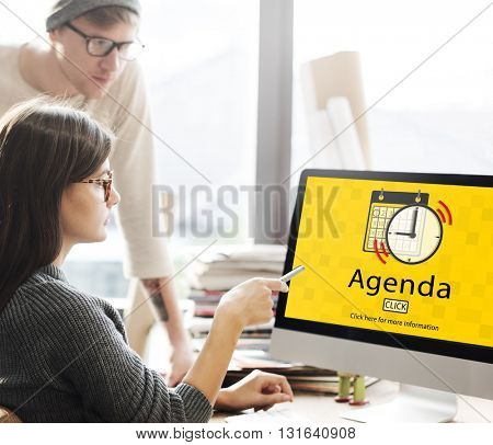 Agenda Appointment Activity Plan Concept