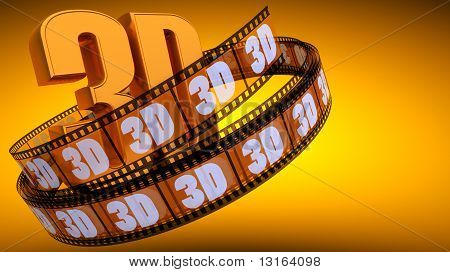 Film with word 3D