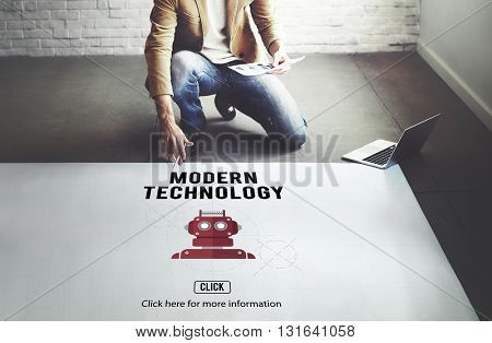 Modern Technology Data Digital Innovation Concept