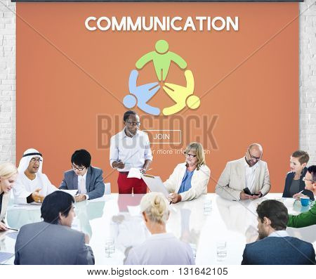 Communication Helping Hand Connection Together Concept