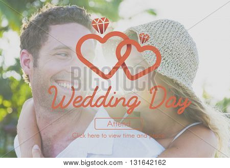 Couple Wedding Married Relationship Romantic Concept