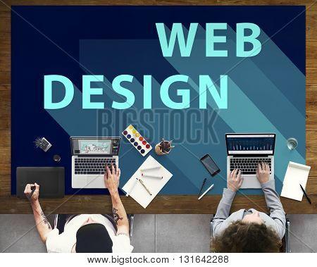 Web Design Ideas Layout Website Technology Concept