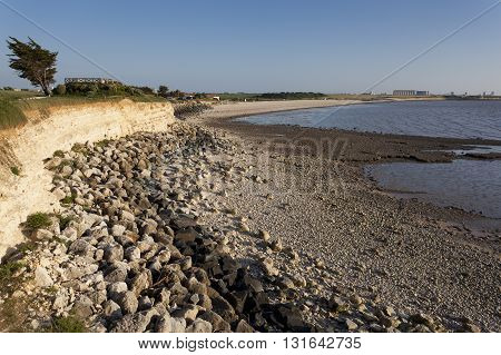 View of the Beach of L'Humeau Charente-Maritime France