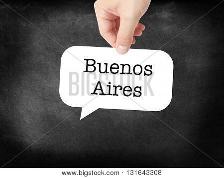 Buenos Aires written on a speechbubble