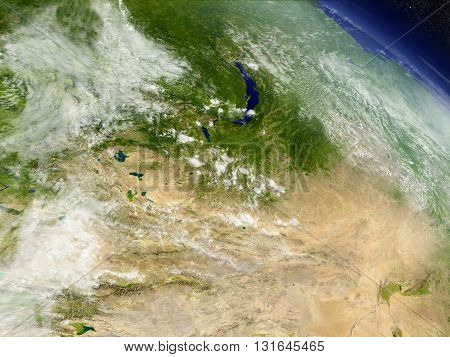 Mongolia From Space