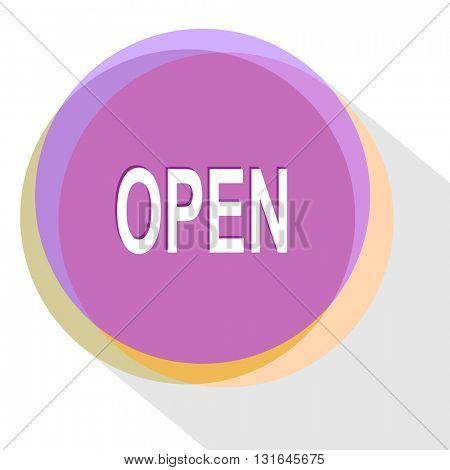 open. Vector icon.