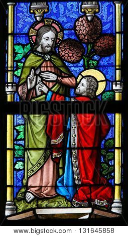 Stained Glass - Jesus And Saint Thomas