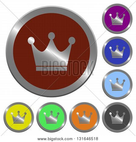 Set of color glossy coin-like premium services buttons.