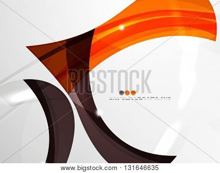 Smooth wave line abstract background - color curve stripes and lines in motion concept and with light and shadow effects.
