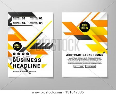 Abstract Background. Geometric Shapes and Frames for Presentation, Annual Reports, Flyers, Brochures, Leaflets, Posters, Business Cards and Document Cover Pages Design. A4 Title Sheet Template