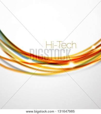 Red and orange color lines in swirl circle vector background