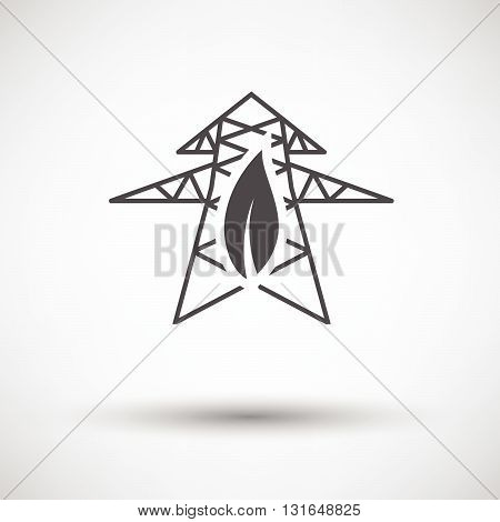 Electric Tower With Leaf Icon