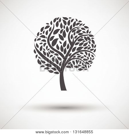 Ecological Tree With Leaves Icon