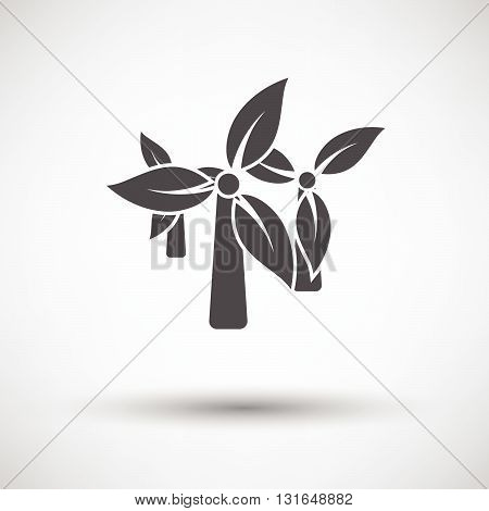 Wind Mill With Leaves In Blades Icon